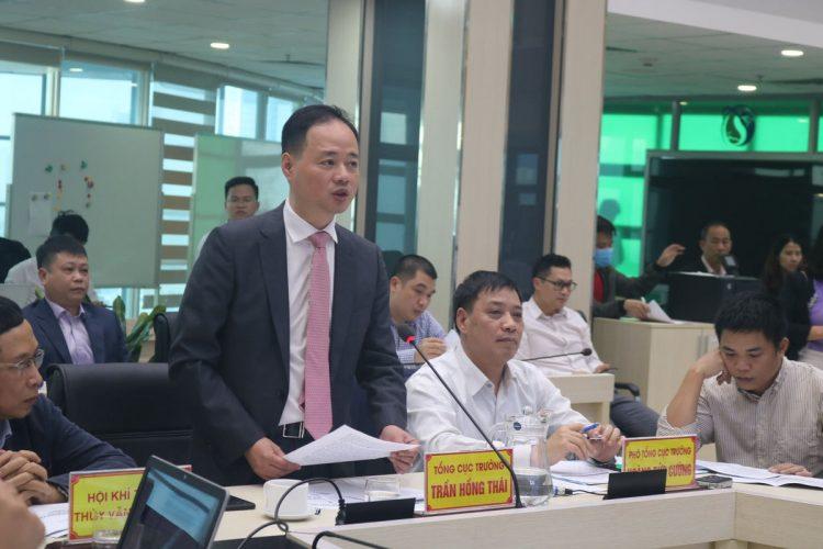 GS.TS Trần Hồng Thái, Tổng cục trưởng Tổng cục khí tượng thủy văn phát biểu khai mạc hội thảo